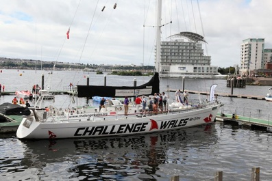 Challenge Wales sailing boat Cardiff Bay 2016