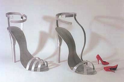 Bruse Gray Giant High Heel Shoe Sculptors 1 and 2