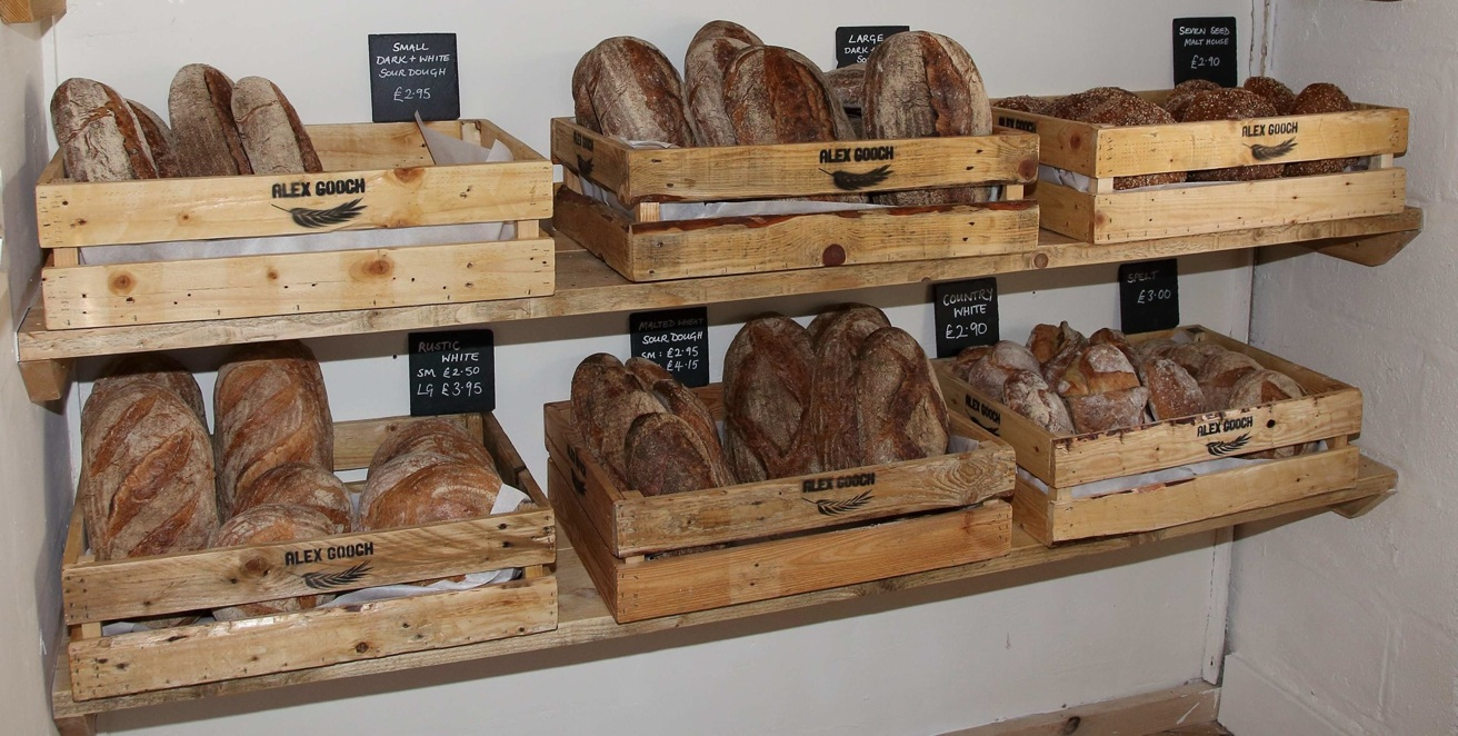 Bread selection Large  / Small Dark + White Sour dough